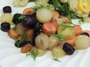 Heirloom carrots with dill